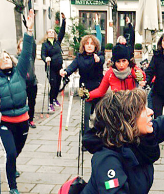 workout di nordic walking a treviso